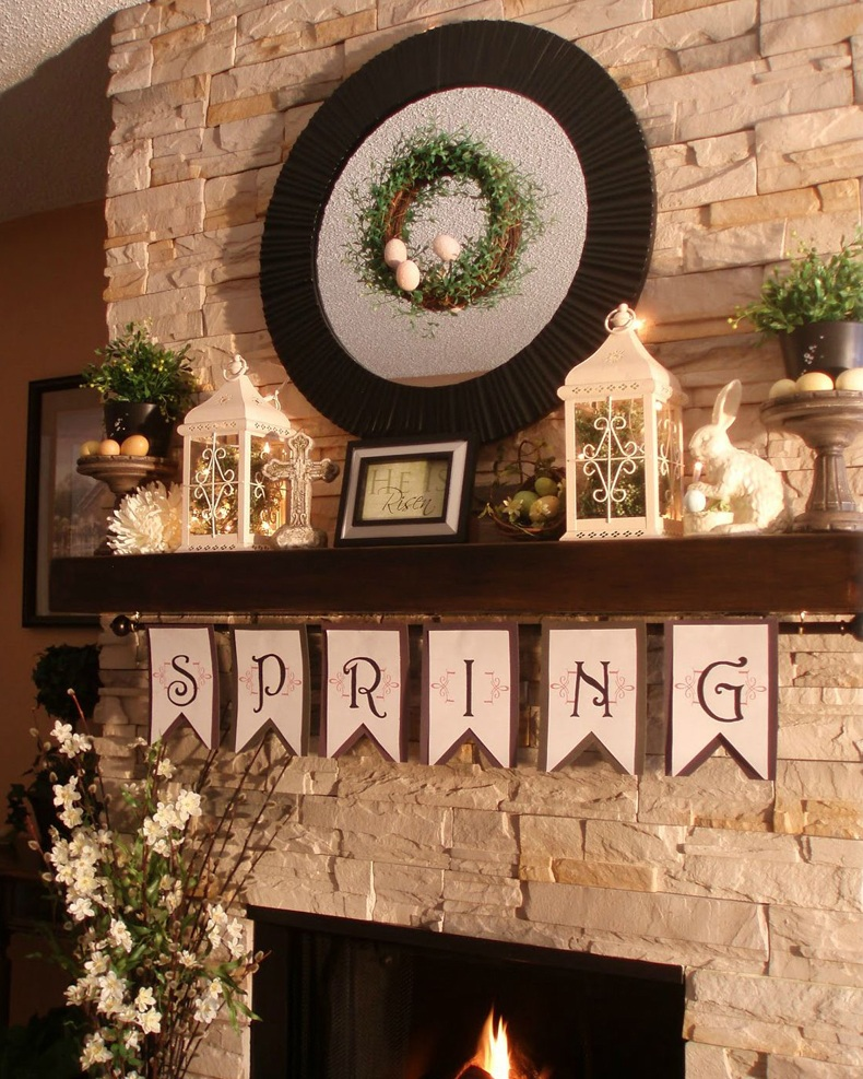 Fireplace Shelves Decorating Ideas