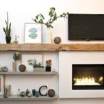 How to Decorate Wood Beam Mantel Shelf in Your Living Room