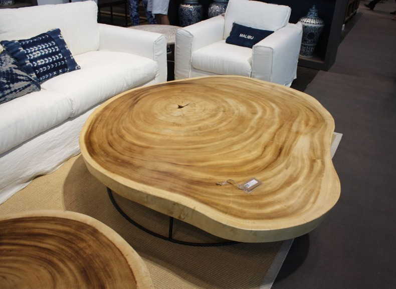 Natural Wood Shaped Coffee Table