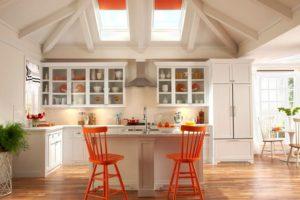Orange And Red Kitchen Interior Design