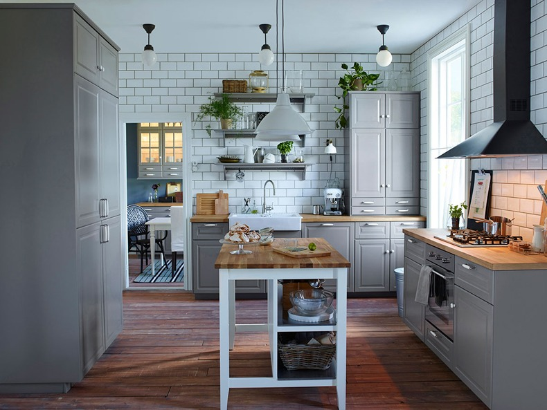 Subway Tiles Grey Kitchen
