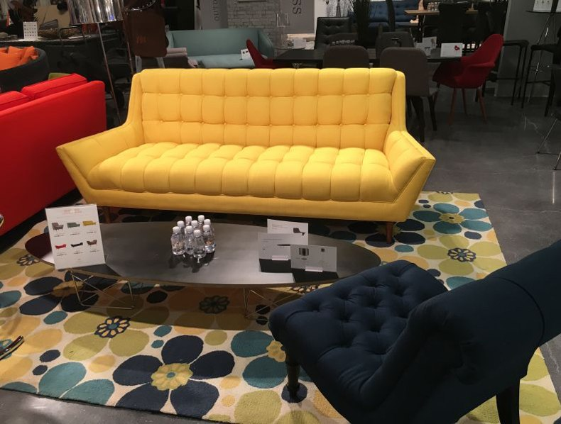Yellow Small Couch
