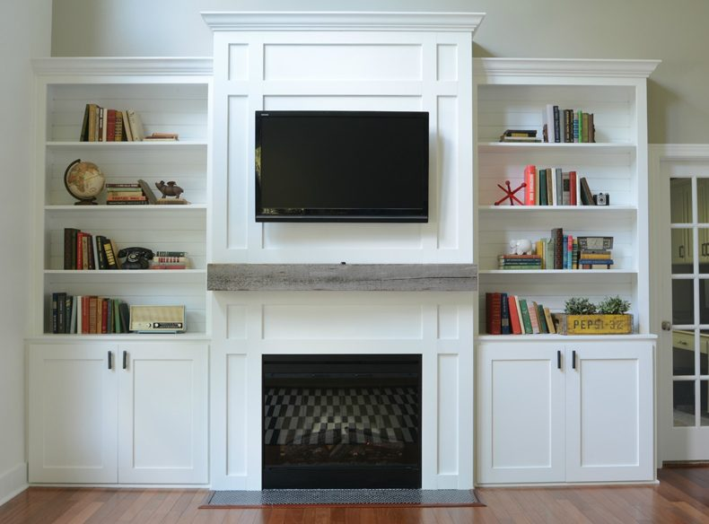 Built In TV Fireplace