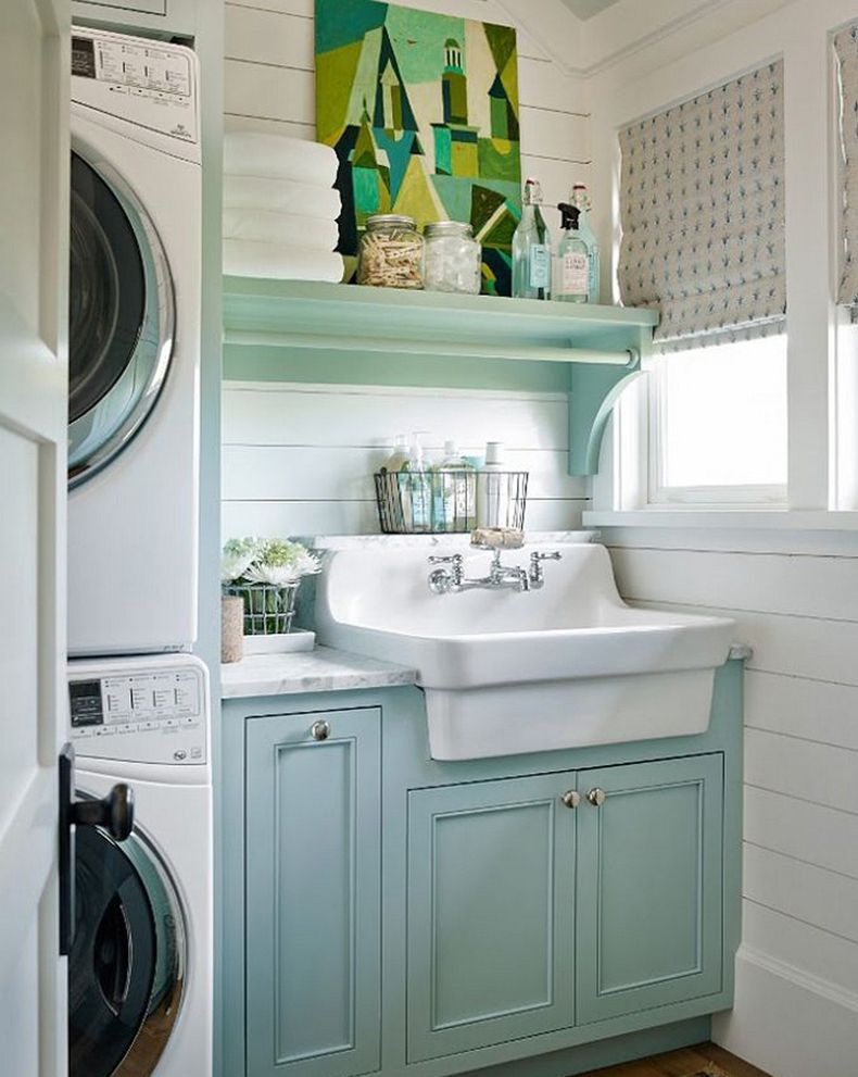 Decorate The Small Laundry Room With Canvas