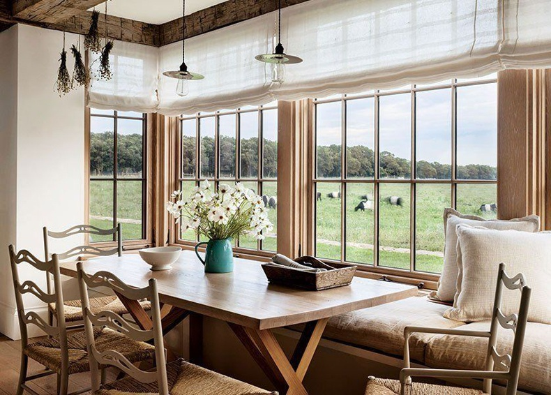 Farmhouse Breakfast Nook Long Windowseat