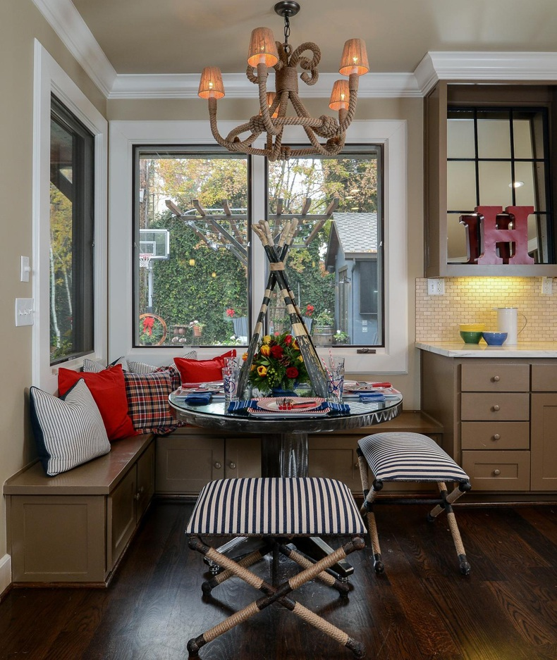 Holiday Breakfast Nook Matching Cabinet Bench