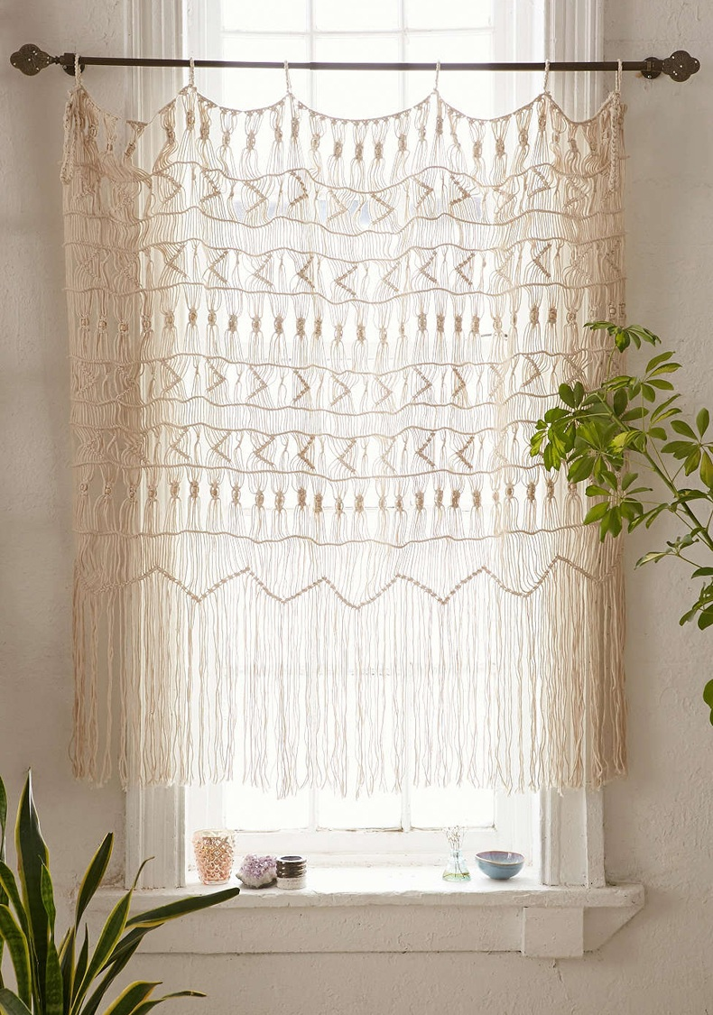 Kitchen Curtain Macrame Shade