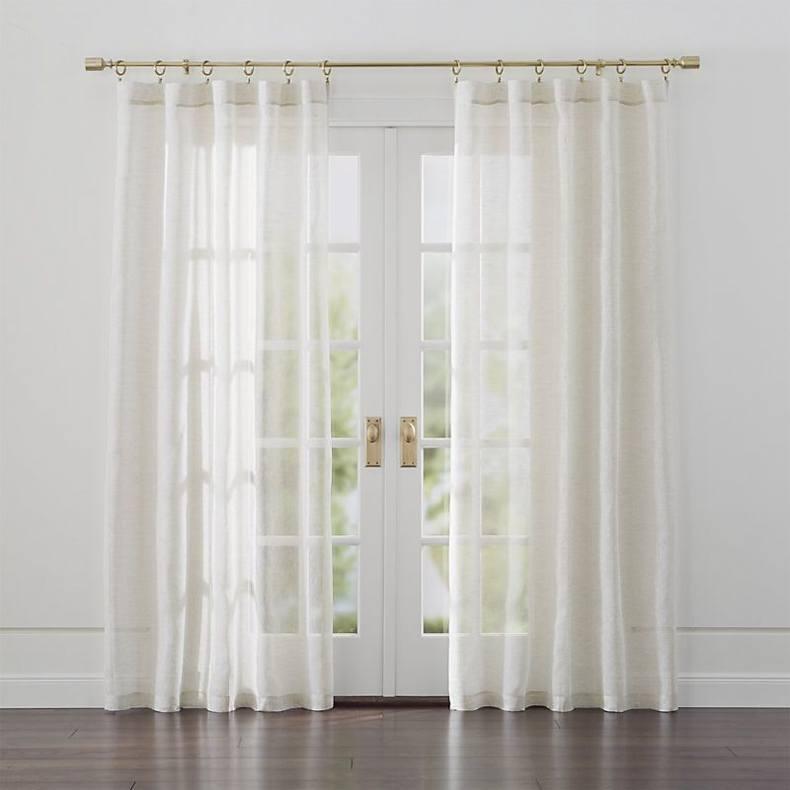 Linen Sheer Natural Curtains