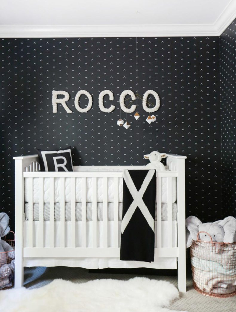 Monochromatic Nursery Black And White