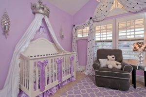 Monochromatic Nursery Bright Lavender