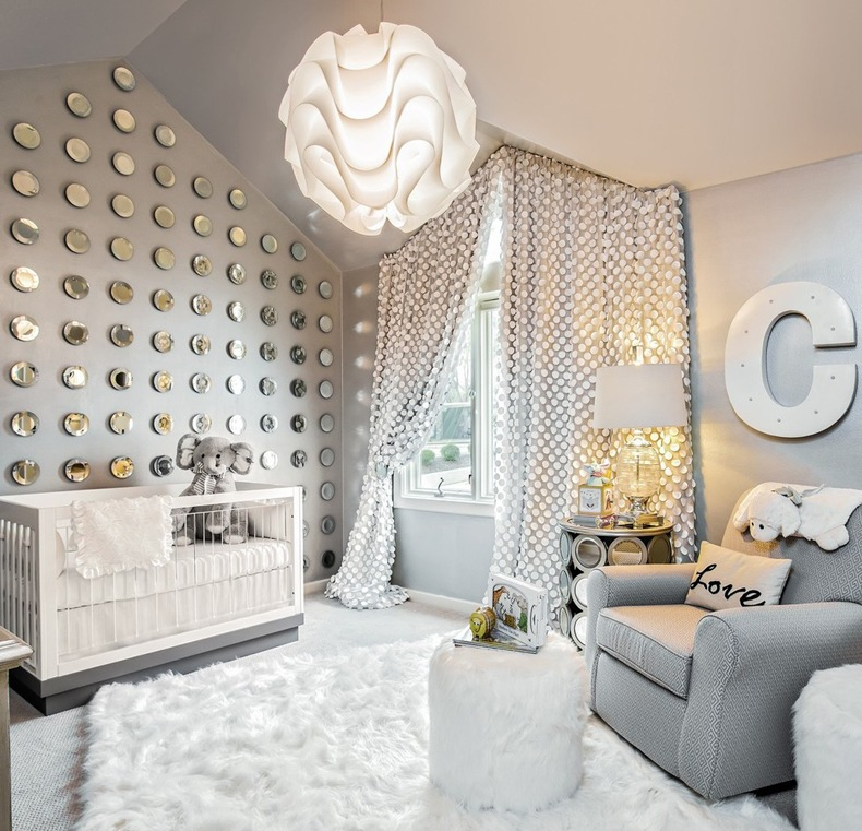 Monochromatic Nursery Chic Gray