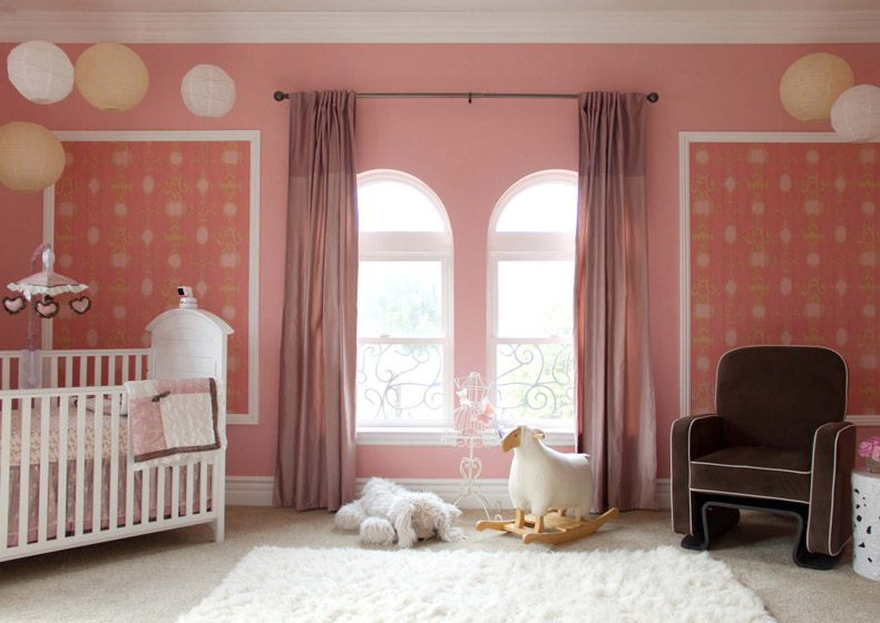 Modern dusky pink nursery it is an important thing for those who have baby girl.
