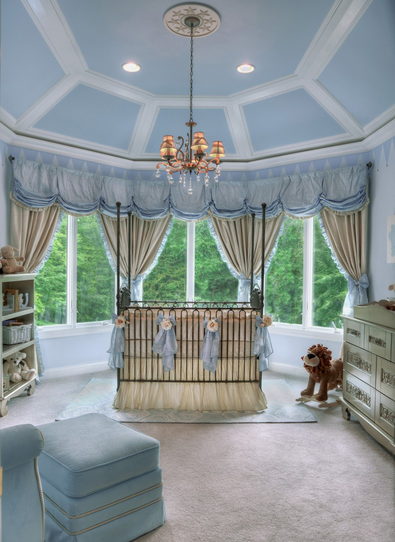 Monochromatic Nursery Pale Blue