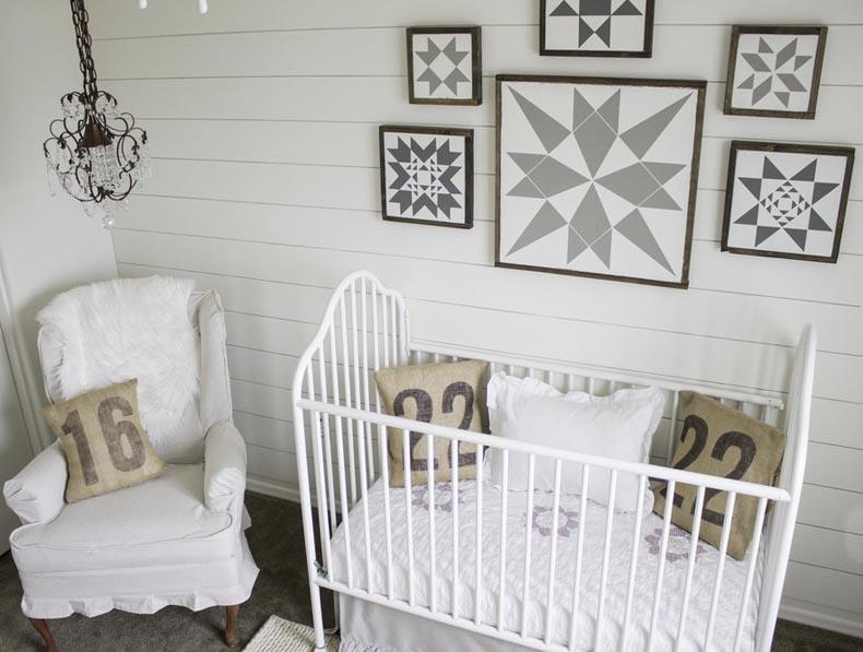Monochromatic Nursery White Farmhouse