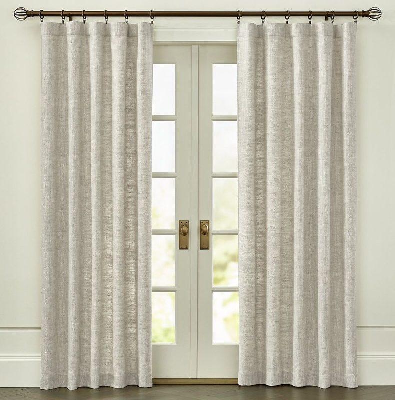 Natural Linen Kitchen Curtain