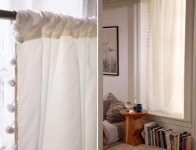Pompom Kitchen Curtains