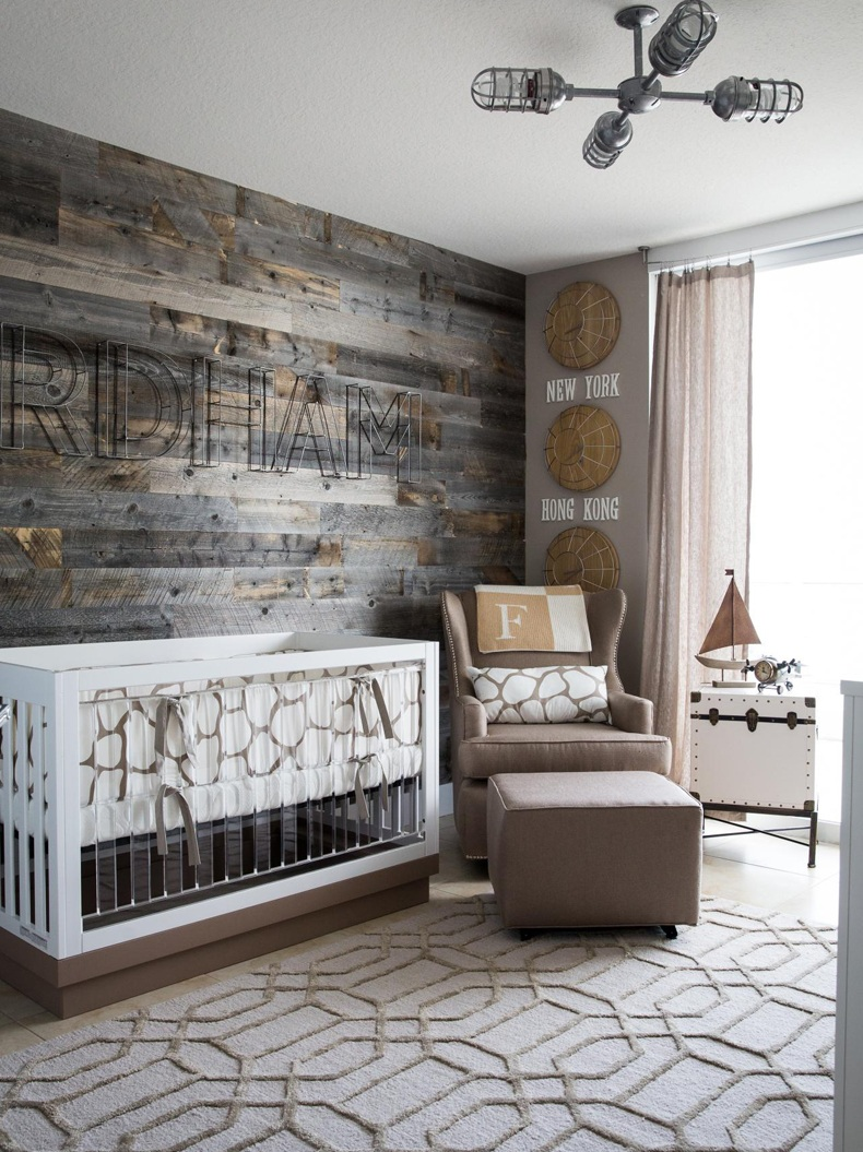 Reclaimed Wood Wall For Nursery Room