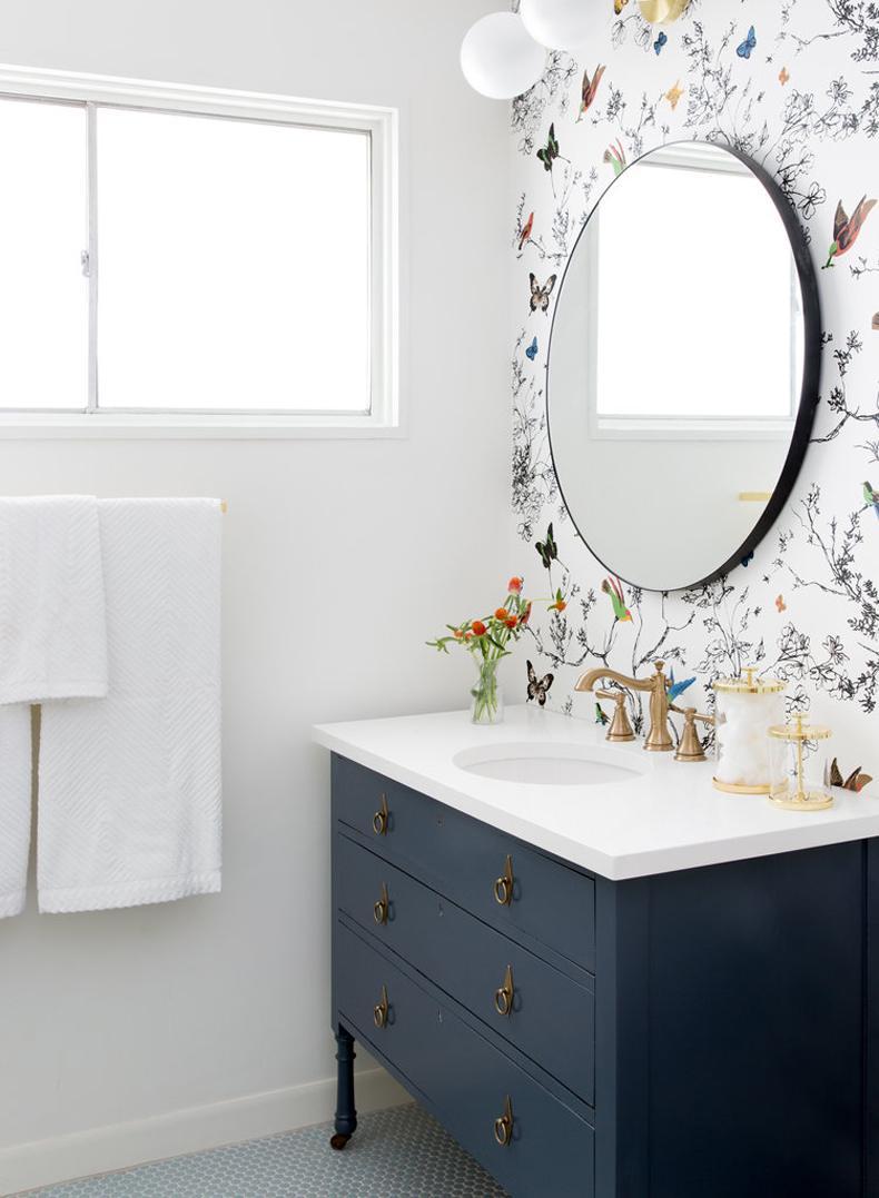 Bathroom Butterfly Wallpaper Wall