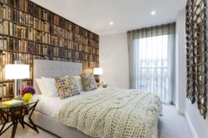 Bedroom Library Books Wallpaper