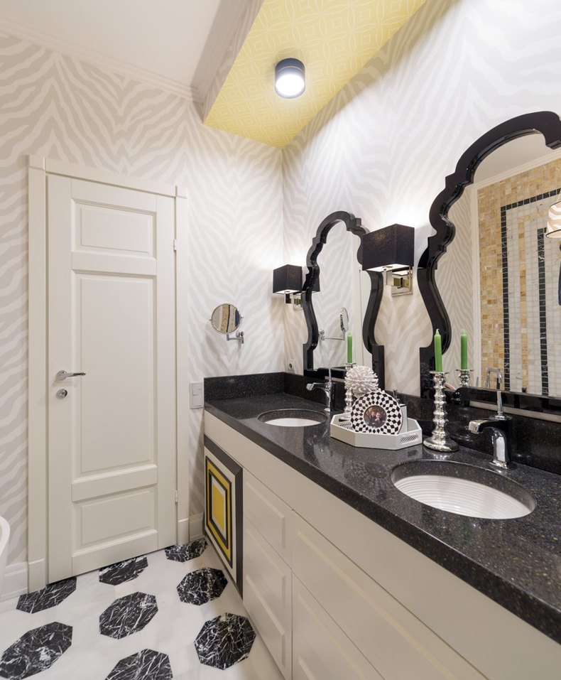 Zebra Wallpaper Bathroom