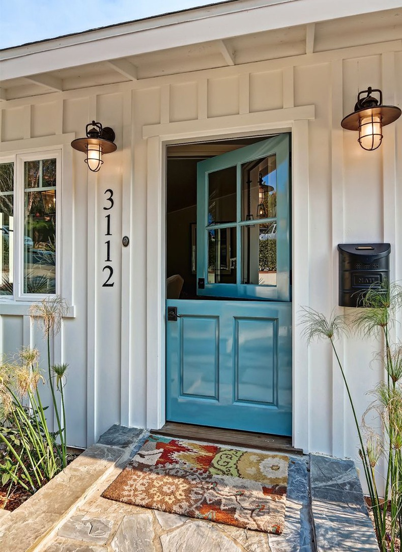Perhaps, your mudroom is a home for a back door, then pay attention to a dutch front door.