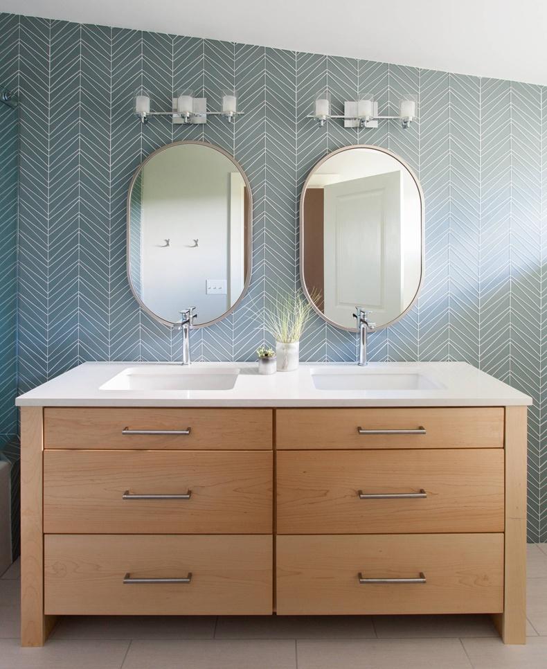 Contemporary Bathroom Chevron Bathroom