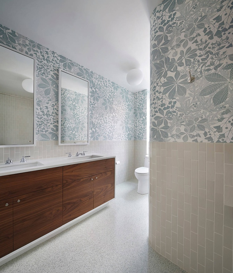 Contemporary Bathroom Wallpaper