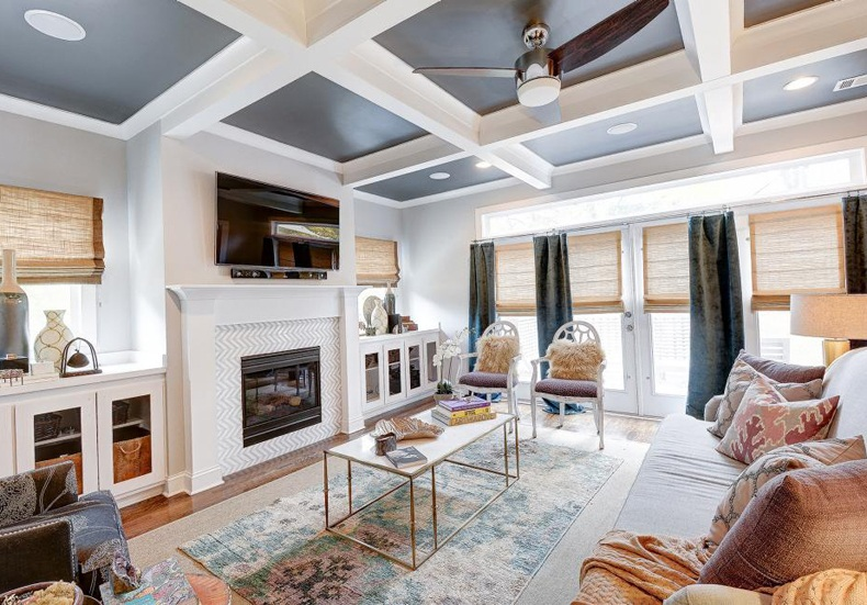 Shallow Coffered Ceiling