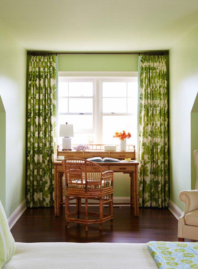 Green Bedroom Paint Color Design