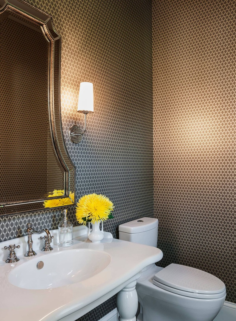 Many designers respect contemporary luxury bathroom wallpaper because of it options.
