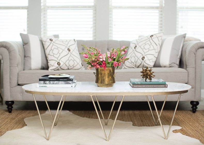 Modern Coffee Table With Hairpinlegs