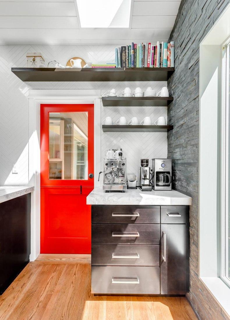 Modern Kitchen Red Dutch Door