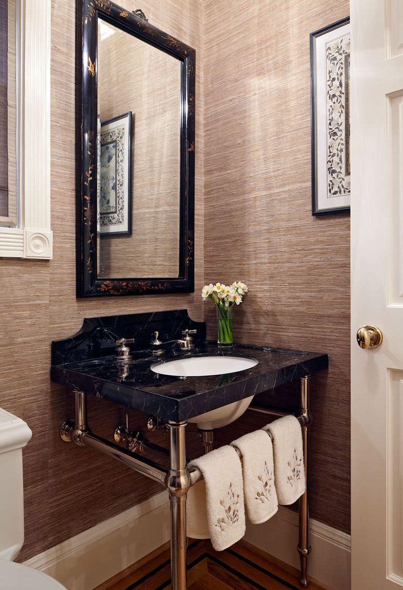 Powder Room Textured Wallpaper