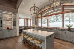 Rustic Kitchen Gray Wood Cabinets