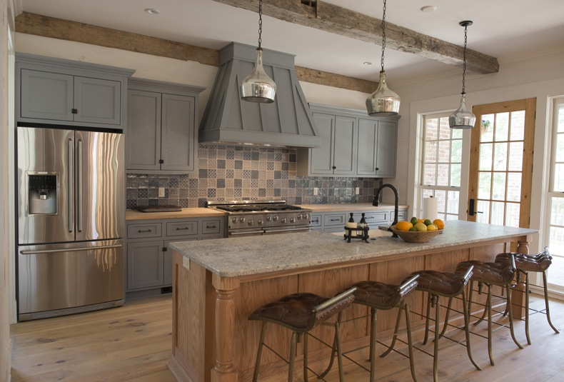 rustic grey kitchen cabinets rustic kitchen painted gray cabinets 25743