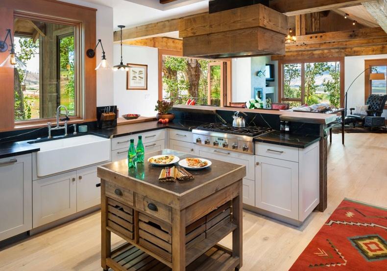 Wood Crate Kitchen Island