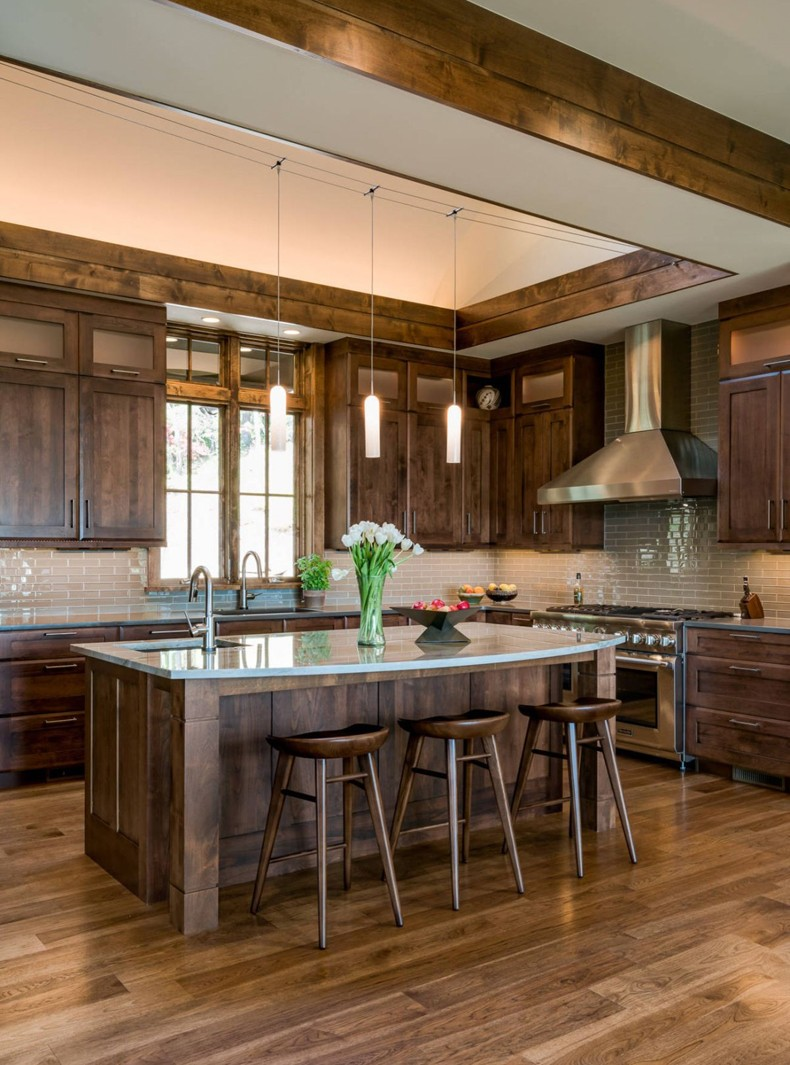 Rustic Stained Cabinets