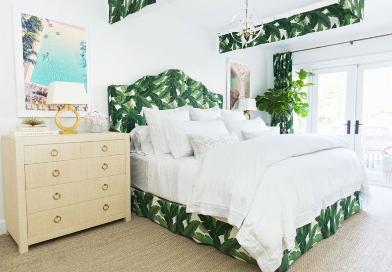 Topical White Bedroom