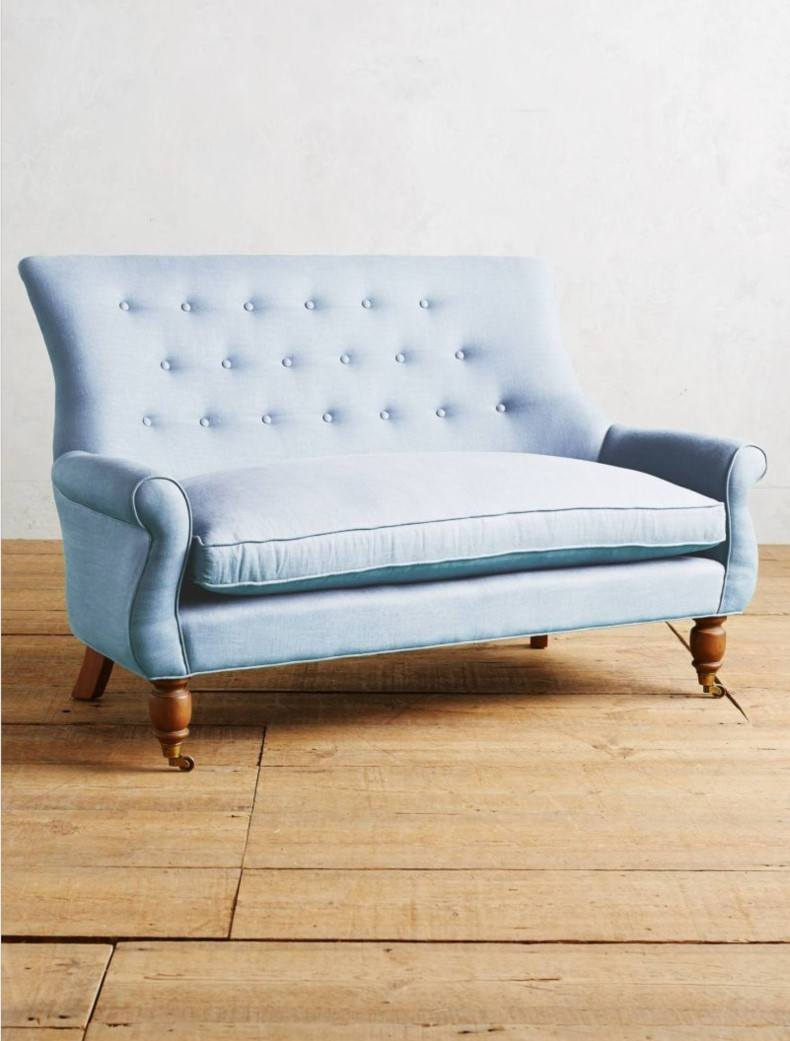 Awesome Linen Astrid Settee