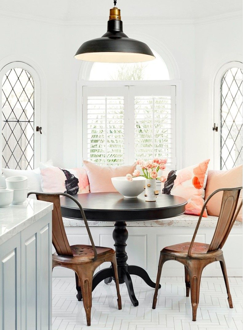 Breakfast Nook Pink Cushions