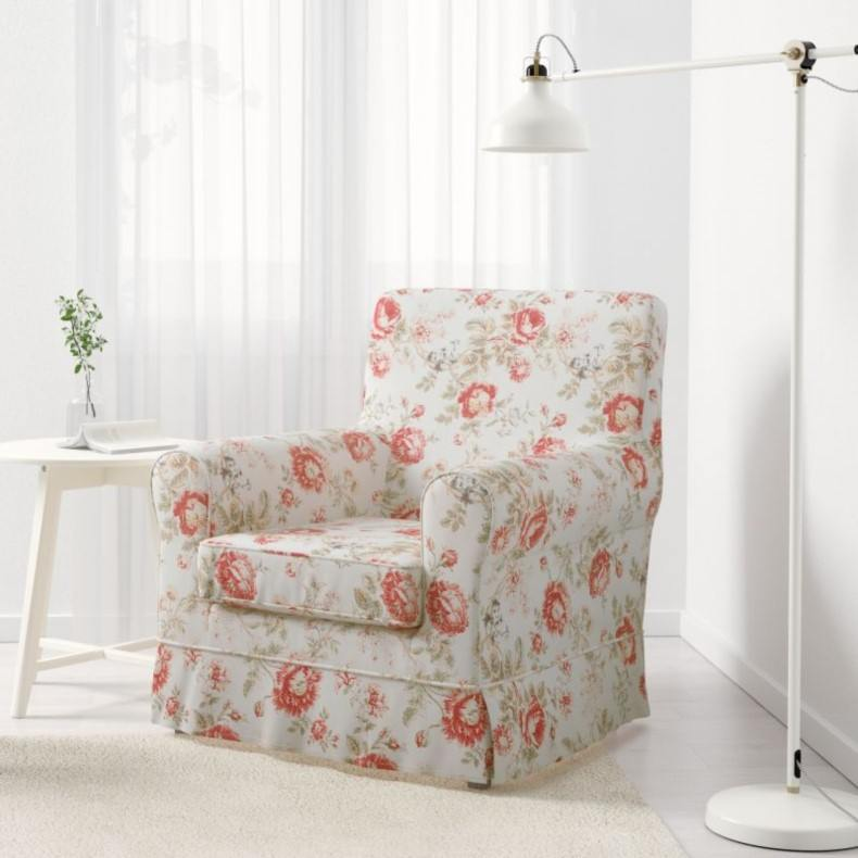 Flowers Shabby Chic Armchair for Living Room