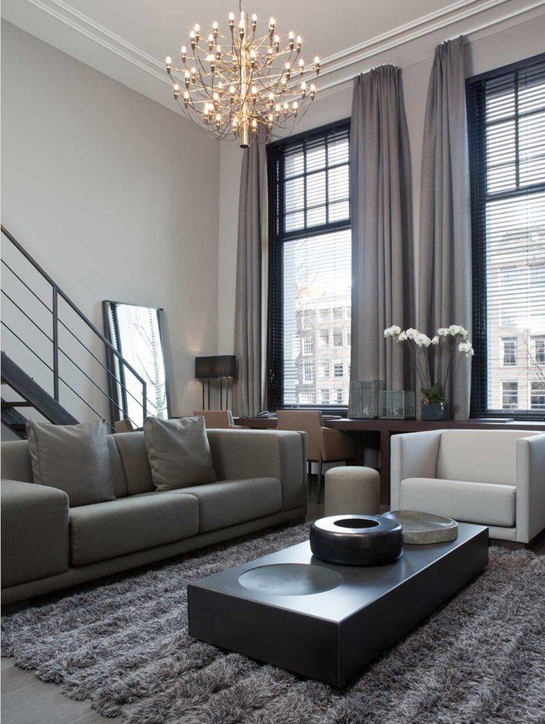 Grey Living Room Curtain