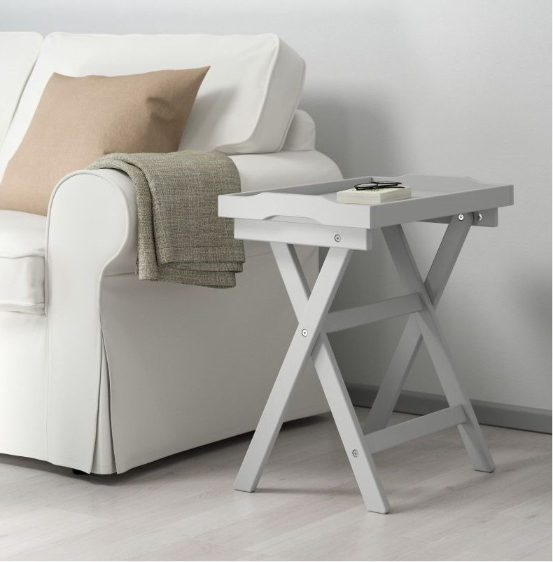 Grey Folding Side Table