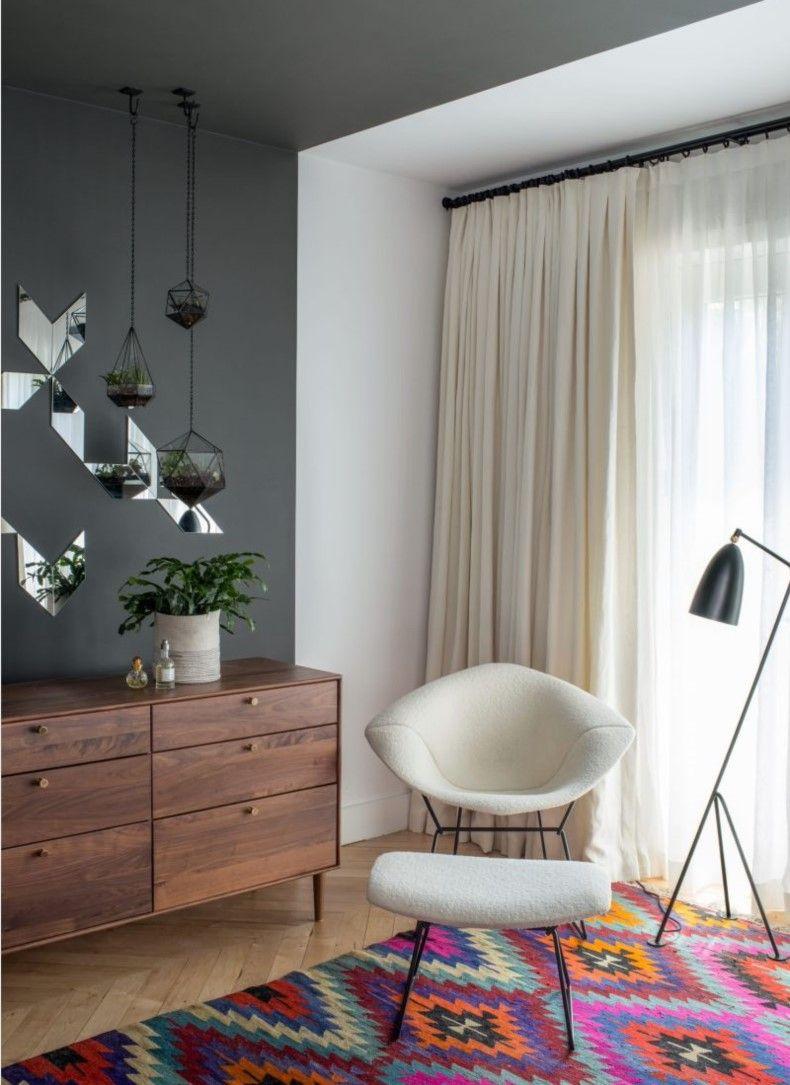 Modern White Living Room Curtains
