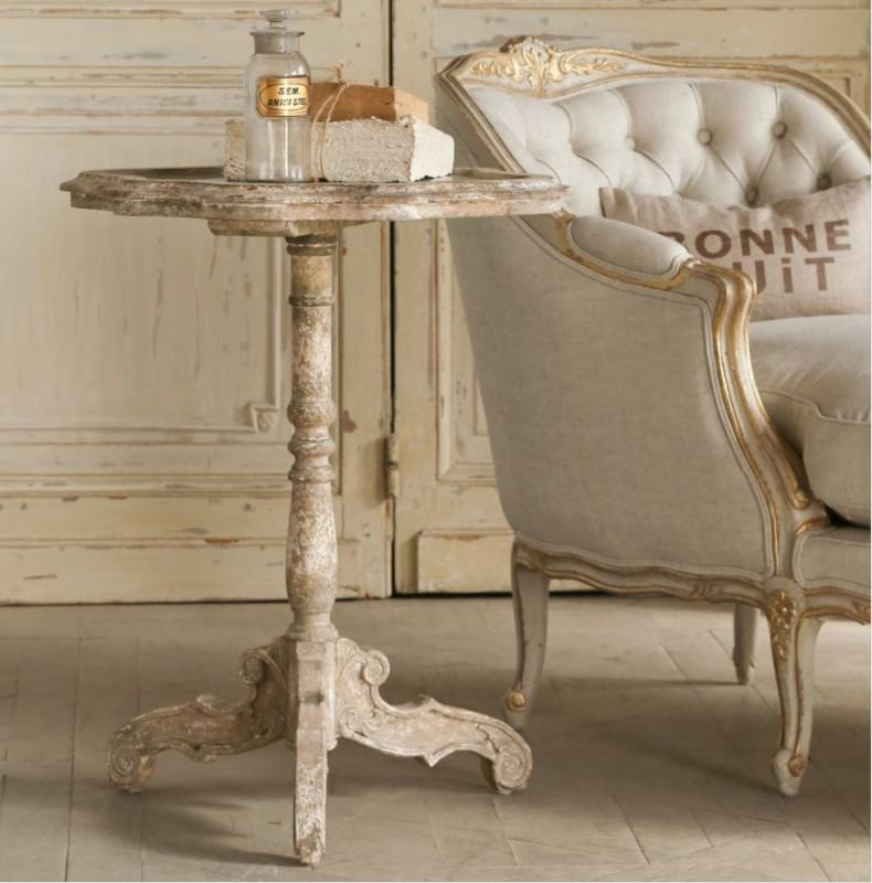 Shabby Mirrored Side Table