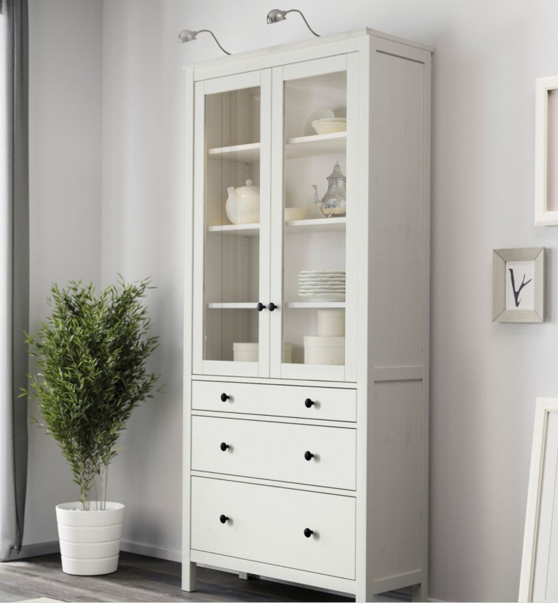 White Corner Drawer Unit