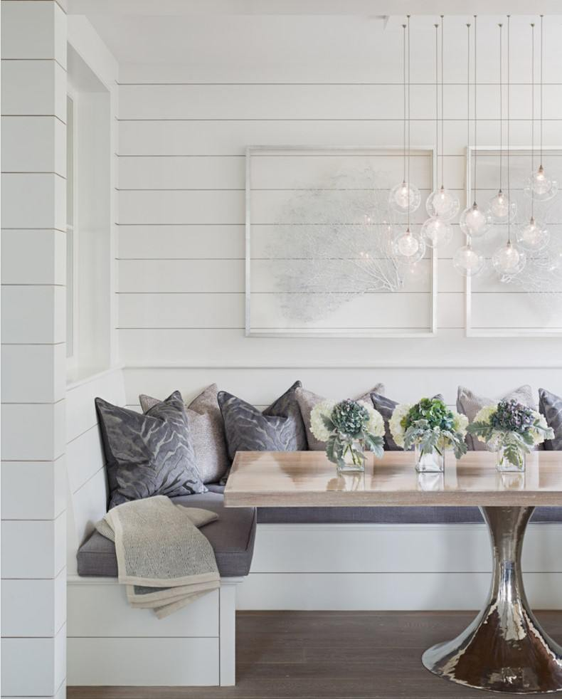 White Breakfast Nook Ideas