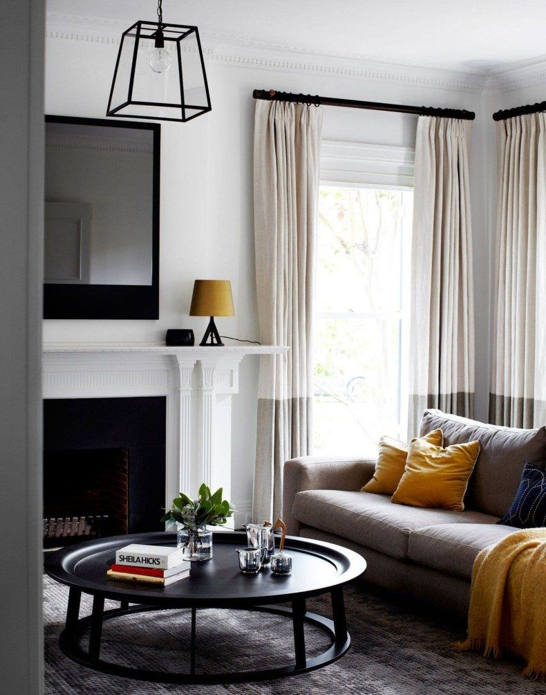 Gray and white curtains for living room is often used in interior décor because it is very interesting.