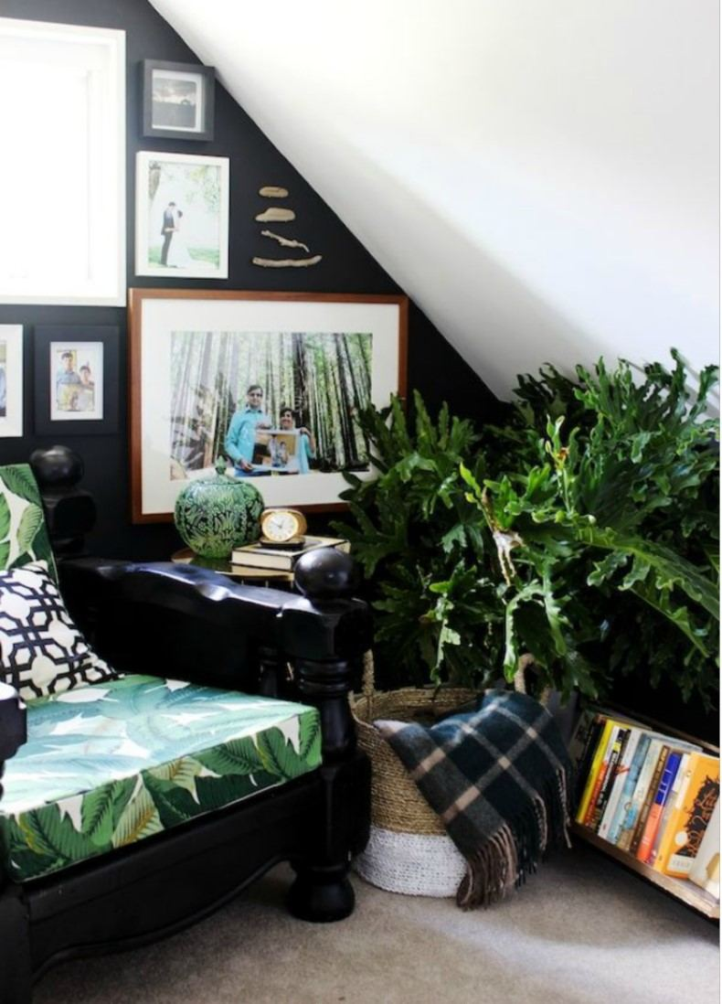 Reading Nook With Plants
