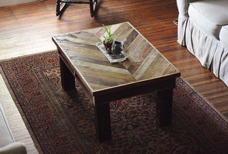 DIY Chevron Coffee Table